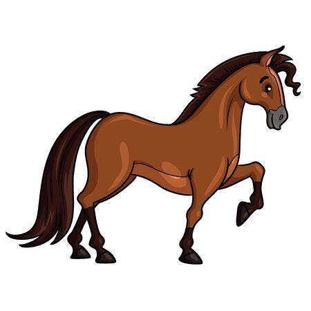 Horse Cartoon Style Zdjęcie Seryjne - 127410167