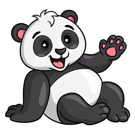 Panda Cartoon Style Stock Illustratie