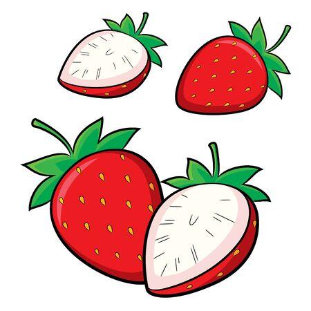 Illustration of cute cartoon strawberry