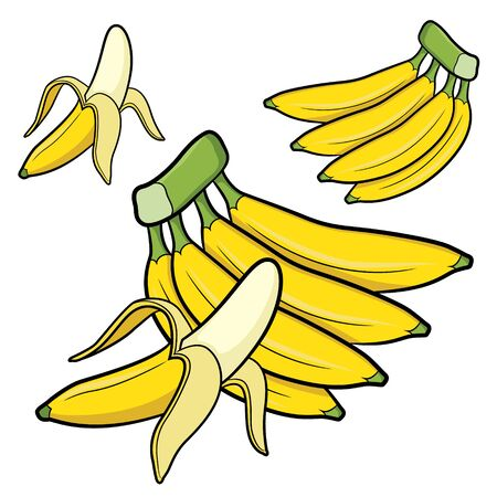 Illustration of cute cartoon banana Zdjęcie Seryjne - 128050026