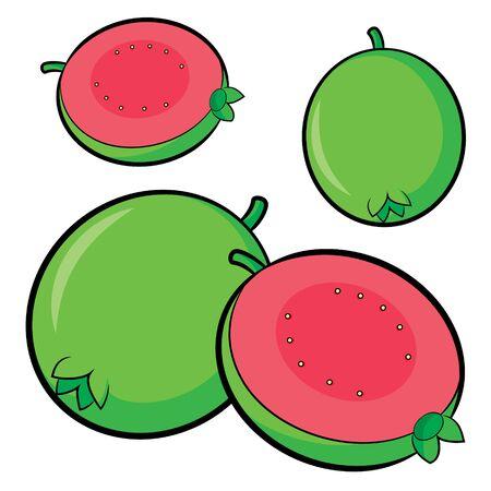 Illustration of cute cartoon guava Ilustrace