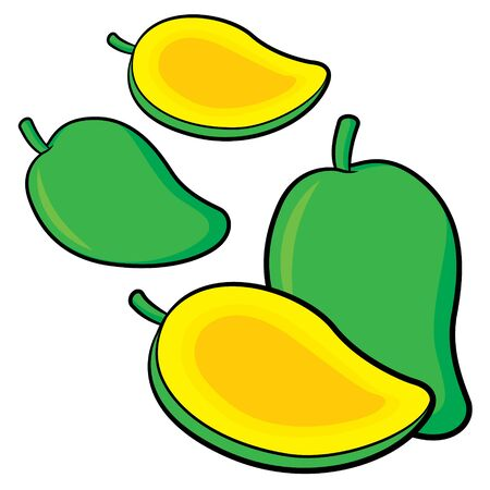 Illustration of cute cartoon mango