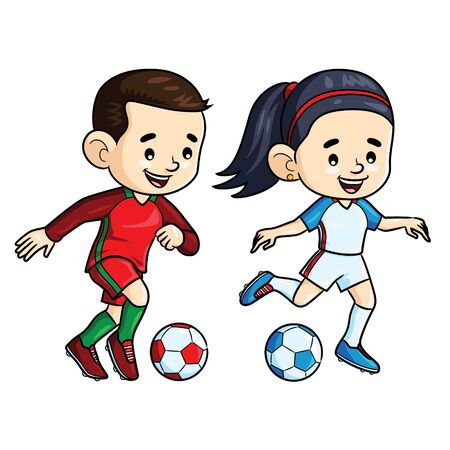 Soccer Player Kids Cartoon