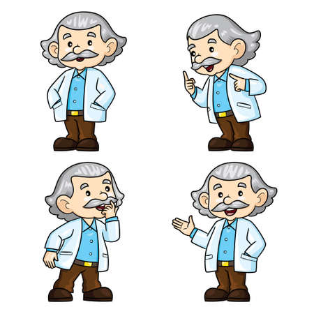 Illustration cartoon of professor. 向量圖像