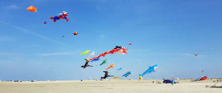 The kite festival on the island of Roemoe in Denmark is one of the largest in Europe.