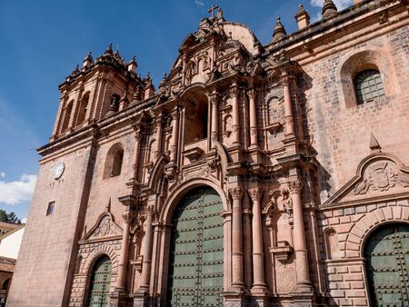 The Cathedral Basilica of the Assumption of the Virgin in Cusco, Peru Stock Photo