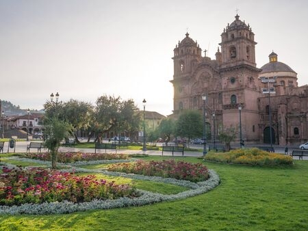 The Cathedral Basilica of the Assumption of the Virgin at Main square of  Cusco, Peru Stock Photo