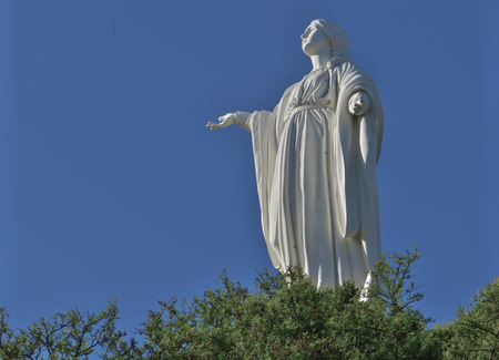 Virgin Mary statue on Cerro San Cristobal, Santiago, Chile