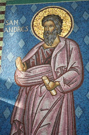 Saint Andrew Figure at Osorno Church in Chile
