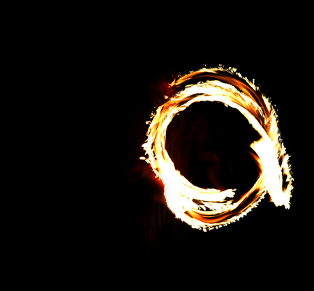 Circle of Fire on black background