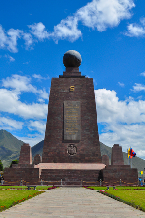 Middle of the world Monument in Quito, Ecuador Editorial