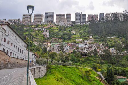 Guapulo neighborhood in Quito, Ecuador Stok Fotoğraf