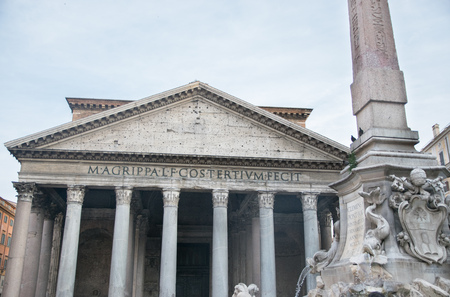 The Pantheon, commissioned by Marcus Agrippa during the reign of Augustus