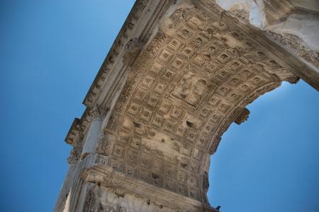 severus: The Arch of Titus (Arco di Tito) at Roman Forum in Rome, Italy
