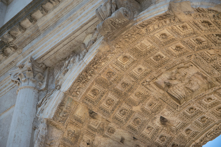archeological: The Arch of Titus (Arco di Tito) at Roman Forum in Rome, Italy
