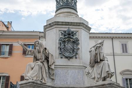 Biblical Statues at Base of Colonna dell'Imacolata