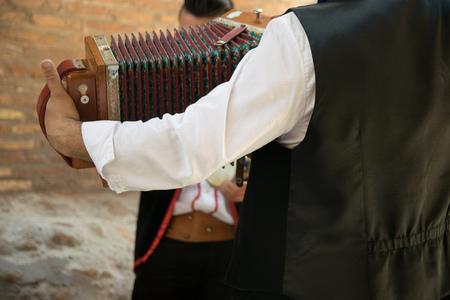 bandoneon: Bandoneon player performs