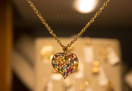 Gemstone heart in a Jewelry
