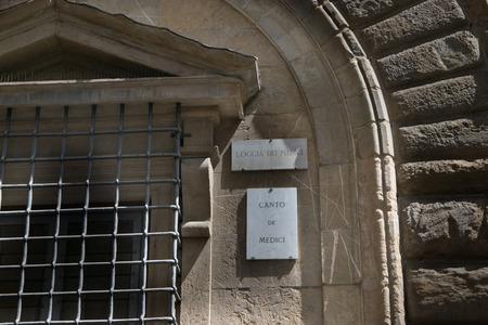 canto: Loggia de Medici, Canto de Medici in Florence, Italy