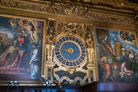 doge's palace: VENICE, ITALY - JUNE 05, 2017: Sala del Collegio or College Hall of Palazzo Ducale (Doges Palace) in Venice, Italy Editorial
