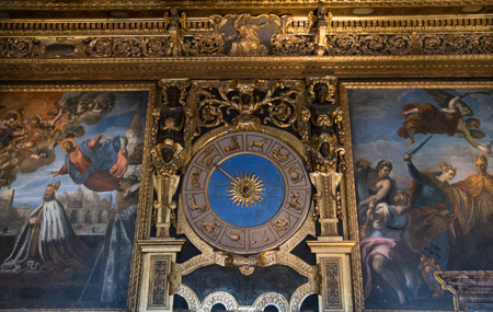 doge's palace: VENICE, ITALY - JUNE 05, 2017: Zodiac symbols at Sala del Collegio or College Hall of Palazzo Ducale (Doges Palace) in Venice, Italy Editorial