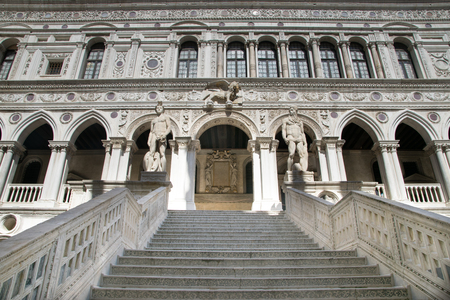 Stairway of Palazzo Ducale (Doges Palace) in Venice, Italy
