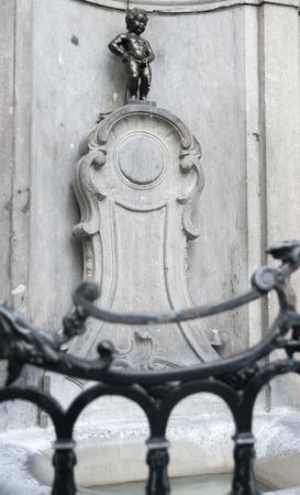 bruxelles: Manneken piss in Brussel Belgium Editorial