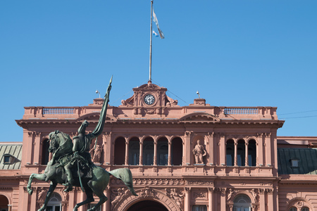 Pink house, official house of the president of Argentina