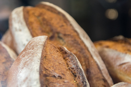whole wheat toast: French baguettes Stock Photo