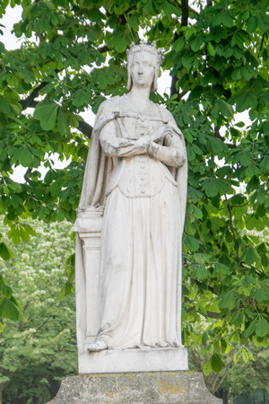 Statue of Anne de Beauje at Luxembourg Gardens in Paris, France Editorial