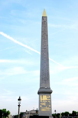 Obelisk of Concorde square, Paris Editorial