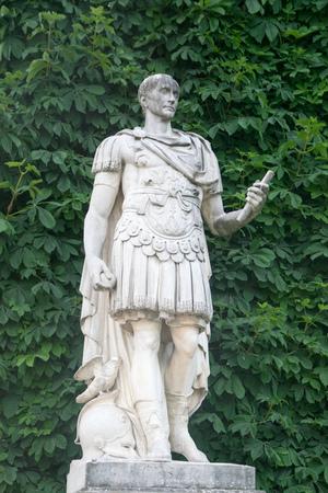 Statue of Gaius Julius Caesar, Roman Emperor, in the Jardin des Tuileries, Paris, France