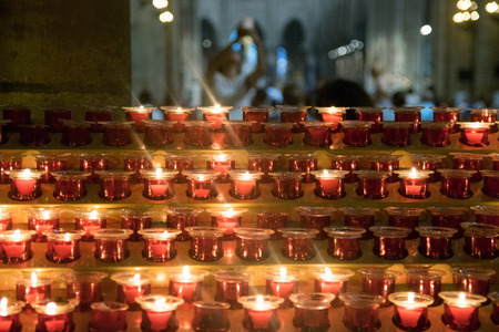 Candles were lighted at Notre Dame church in Paris of France