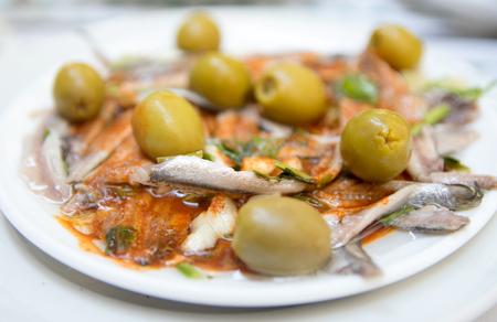 Boquerones en Vinagre、スペインのタパス料理