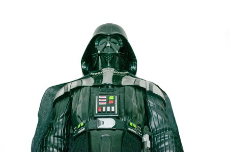 Buenos Aires, Argentina - November 22, 2017: A studio shot of a Darth Vader action figure from the movie series Star Wars