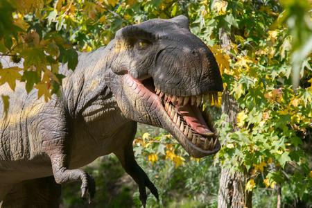 Tyrannosaurus Rex plastic model portrait