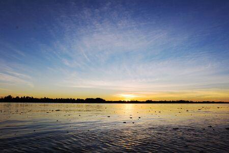 Parana River at Dusk in Buenos Aires, Argentina Standard-Bild - 132056770