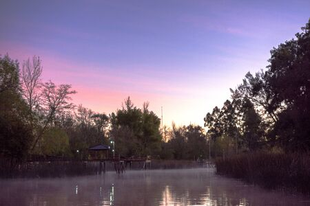 Delta River in Tigre City at Morning in Buenos Aires, Argentina