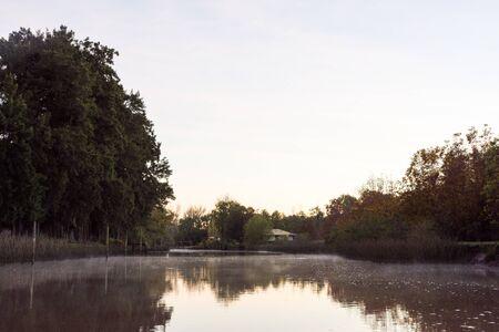 Delta River in Tigre City at Morning in Buenos Aires, Argentina Standard-Bild - 132057161