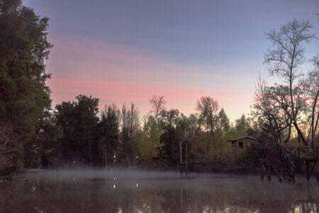 Delta River in Tigre City at Morning in Buenos Aires, Argentina Standard-Bild - 132056397