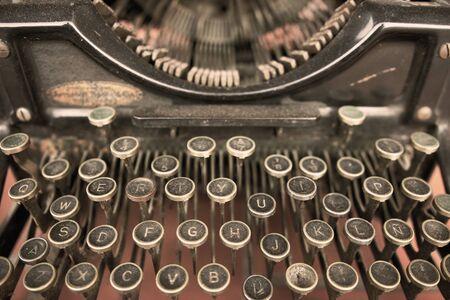 Close-up van een vintage typemachinemachine