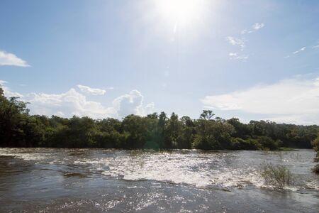 Iguazu River at Iguazu National Park in Misiones, Argentina 写真素材