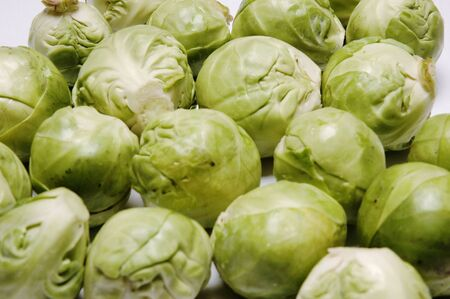Full frame shot of Brussels Sprouts, Close Up
