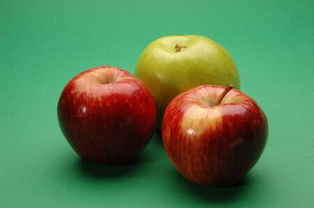 Green and Red Apples, Close Up