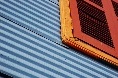 Close View of Window, Caminito, La Boca, Buenos Aires, Argentina
