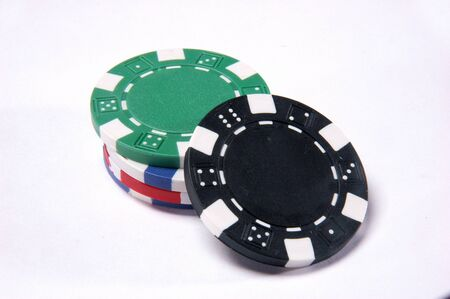 Gambling Chip on white background Stock Photo