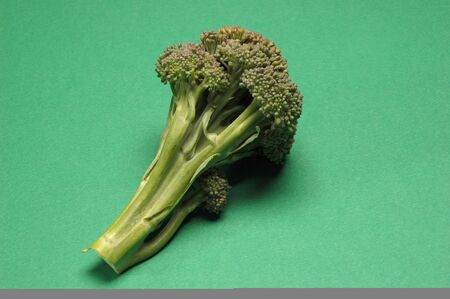 Fresh Broccoli, Close Up on green background