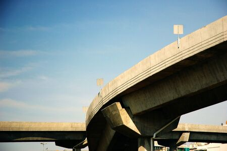 Curve of a highway seen from below Stock Photo
