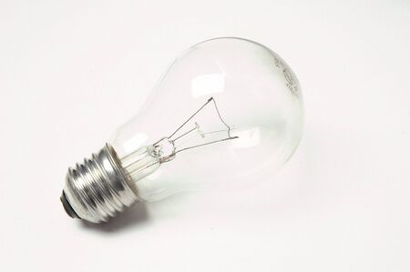 Electric light bulb on white background Stock Photo