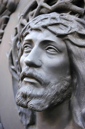 Face of Jesus Christ in statue